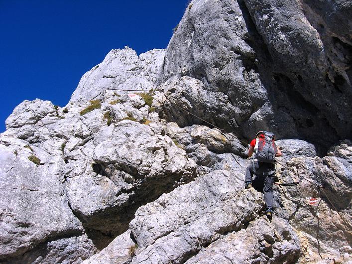 Foto: Andreas Koller / Klettersteig Tour / Klettersteig Mandlgrat / Mannlgrat auf den Hohen Göll (2522m) / Ständiges Auf und Ab am Mandlgrat / 30.10.2008 17:19:06