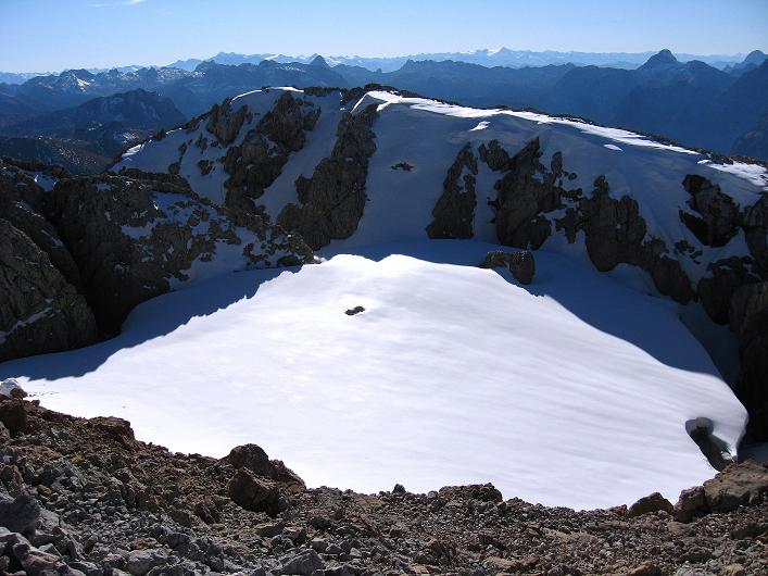 Foto: Andreas Koller / Klettersteig Tour / Klettersteig Mandlgrat / Mannlgrat auf den Hohen Göll (2522m) / Blick vom Göll-Gipfel nach SW in die Hohen Tauern / 30.10.2008 17:07:01