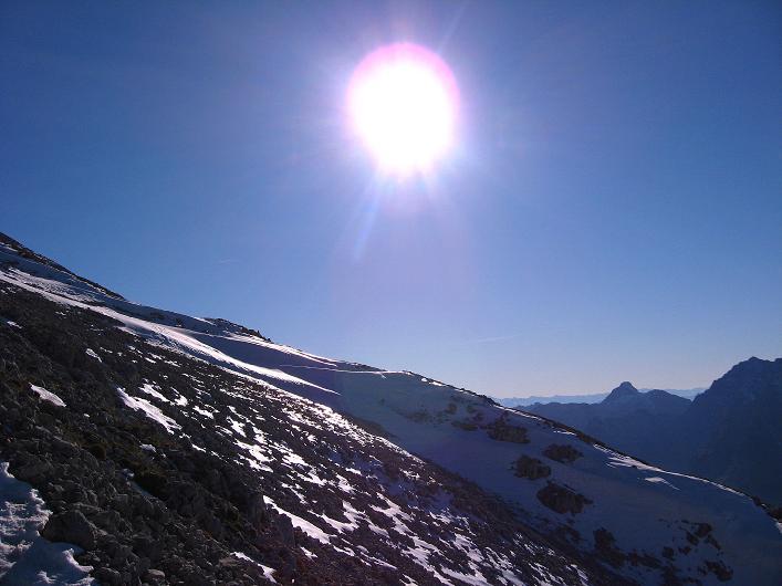 Foto: Andreas Koller / Klettersteig Tour / Klettersteig Mandlgrat / Mannlgrat auf den Hohen Göll (2522m) / Sonne und Eis am Göllleiten / 30.10.2008 17:04:50