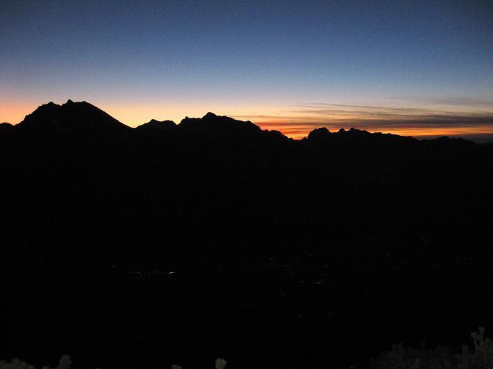 Foto: Andreas Koller / Klettersteig Tour / Klettersteig Mandlgrat / Mannlgrat auf den Hohen Göll (2522m) / Sonnenuntergang über den Berchtesgadener Alpen / 30.10.2008 17:02:56