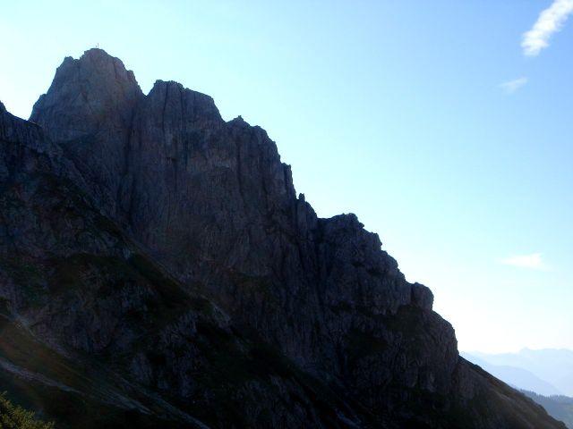 Foto: Manfred Karl / Klettersteig Tour / Grandlspitz – Taghaube – Überschreitung / Südliche Taghaube / 31.10.2008 08:02:46