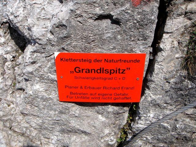 Foto: Manfred Karl / Klettersteig Tour / Grandlspitz – Taghaube – Überschreitung / Ein deutlicher Hinweis / 31.10.2008 07:59:02