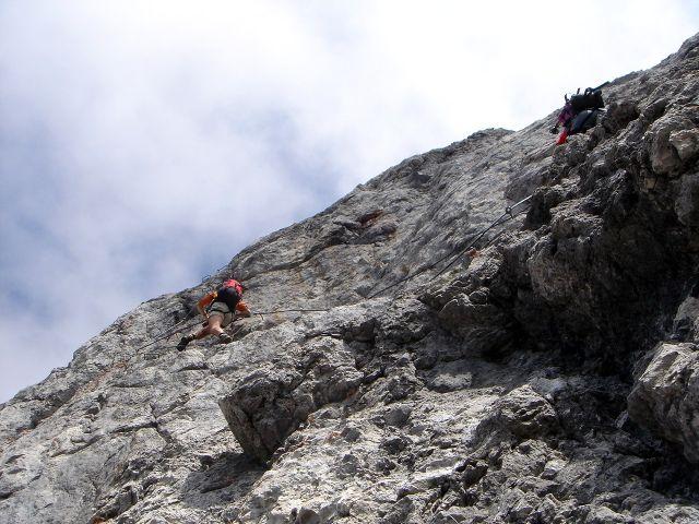 Foto: Manfred Karl / Klettersteig Tour / Grandlspitz – Taghaube – Überschreitung / Quergang / 31.10.2008 07:57:47