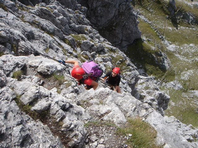 Foto: Manfred Karl / Klettersteig Tour / Grandlspitz – Taghaube – Überschreitung / Auch der mittlere Teil bietet sehr schöne Klettersteigstellen / 31.10.2008 07:56:27