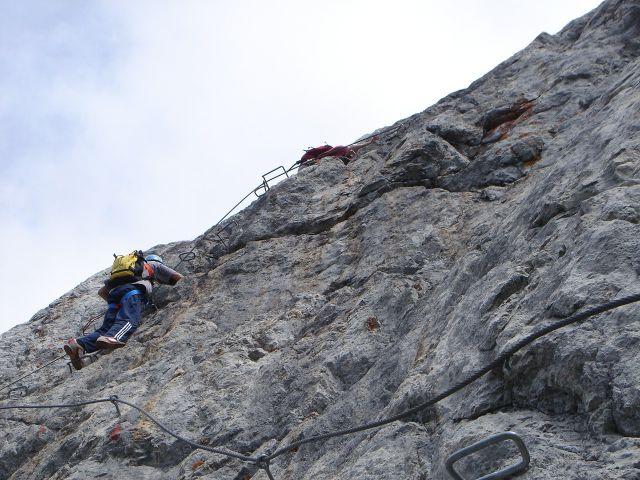 Foto: Manfred Karl / Klettersteig Tour / Grandlspitz – Taghaube – Überschreitung / Im Schlusswandl / 31.10.2008 07:55:24