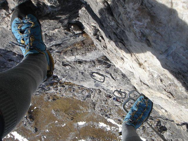 Foto: Manfred Karl / Klettersteig Tour / Grandlspitz – Taghaube – Überschreitung / Luftiger Anstieg an einem 30. Dezember / 31.10.2008 07:54:08