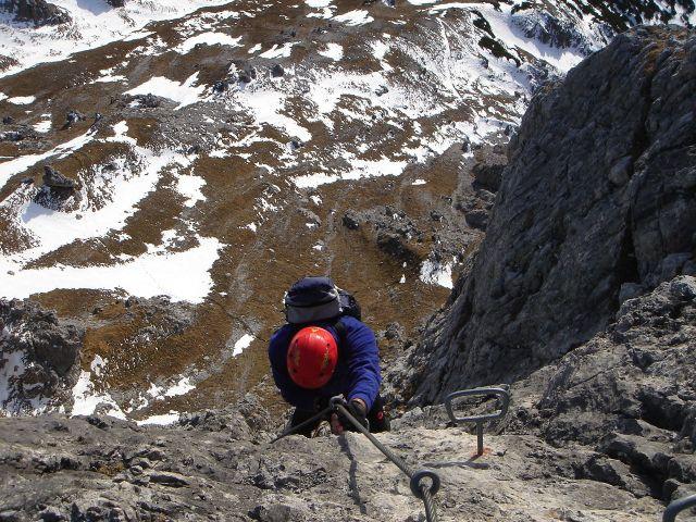 Foto: Manfred Karl / Klettersteig Tour / Grandlspitz – Taghaube – Überschreitung / Die letzten Meter am Grandlspitz Klettersteig / 31.10.2008 07:53:27