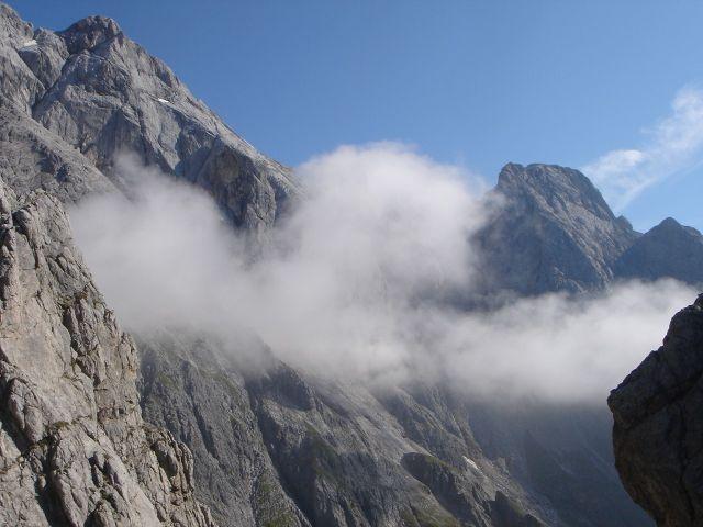 Foto: Manfred Karl / Klettersteig Tour / Grandlspitz – Taghaube – Überschreitung / Hochkönig und Bratschenkopf präsentieren sich eindrucksvoll / 31.10.2008 07:50:35