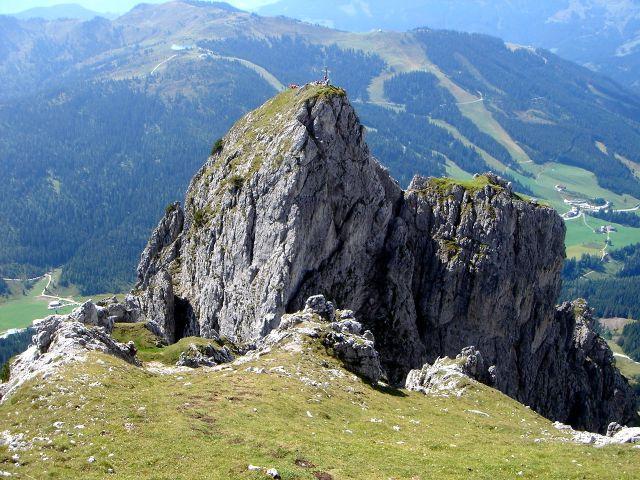 Foto: Manfred Karl / Klettersteig Tour / Grandlspitz – Taghaube – Überschreitung / Steiler Abstieg zur Scharte vor der Südlichen Taghaube / 31.10.2008 07:47:33