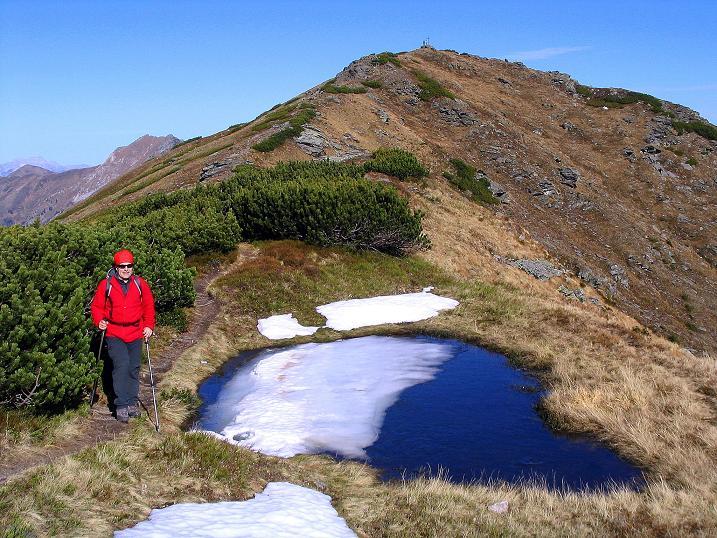 Foto: Andreas Koller / Wander Tour / Kammwanderung zum Schreinl (2154m) / Am breiten Verbindungsgrat zum Schreinl / 04.11.2008 11:08:13