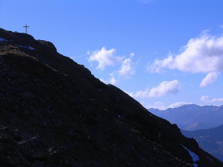 Foto: Andreas Koller / Wander Tour / Kammwanderung zum Schreinl (2154m) / Der Gipfelaufbau des Schreinl / 04.11.2008 11:07:54