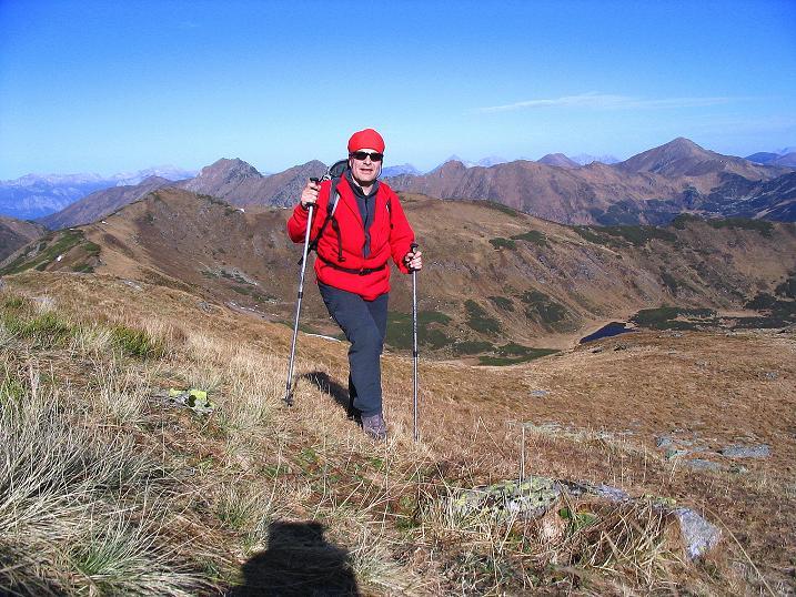 Foto: Andreas Koller / Wander Tour / Kammwanderung zum Schreinl (2154m) / Anstieg am N-Hang zum Schreinl / 04.11.2008 11:07:38