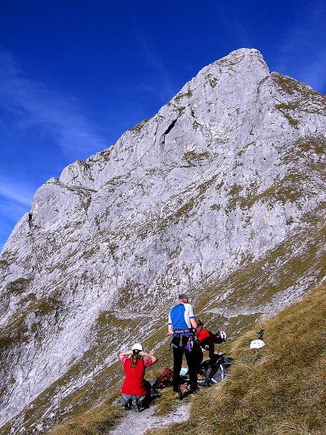 Foto: Andreas Koller / Wander Tour / Admonter Reichenstein (2251m) / Anseilen unterm Totenköpfl (2186 m) / 04.11.2008 21:23:25