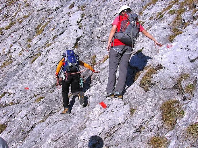 Foto: Andreas Koller / Wander Tour / Admonter Reichenstein (2251m) / Querung zur Schlüsselstelle (Herzmann-Kupfer Platte) / 04.11.2008 21:22:57