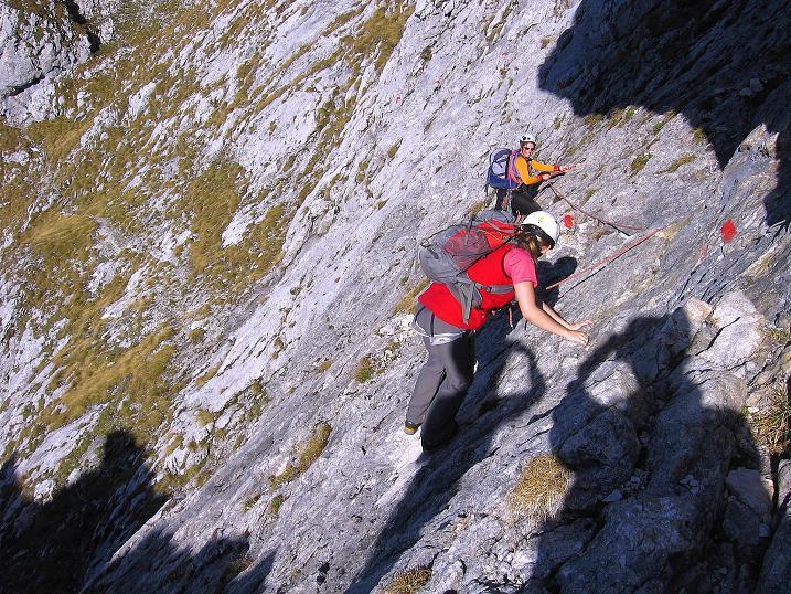 Foto: Andreas Koller / Wander Tour / Admonter Reichenstein (2251m) / Sehr abschüssiges Gelände auf der Herzmann-Kupfer Platte / 04.11.2008 21:21:16