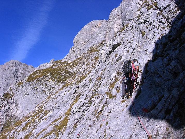 Foto: Andreas Koller / Wander Tour / Admonter Reichenstein (2251m) / Luftige Querung in die Herzmann-Kupfer Platte / 04.11.2008 21:20:41