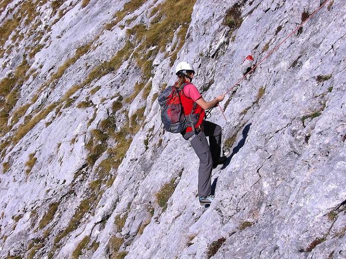 Foto: Andreas Koller / Wander Tour / Admonter Reichenstein (2251m) / Abseilen über die Herzmann-Kupfer Platte / 04.11.2008 21:20:07