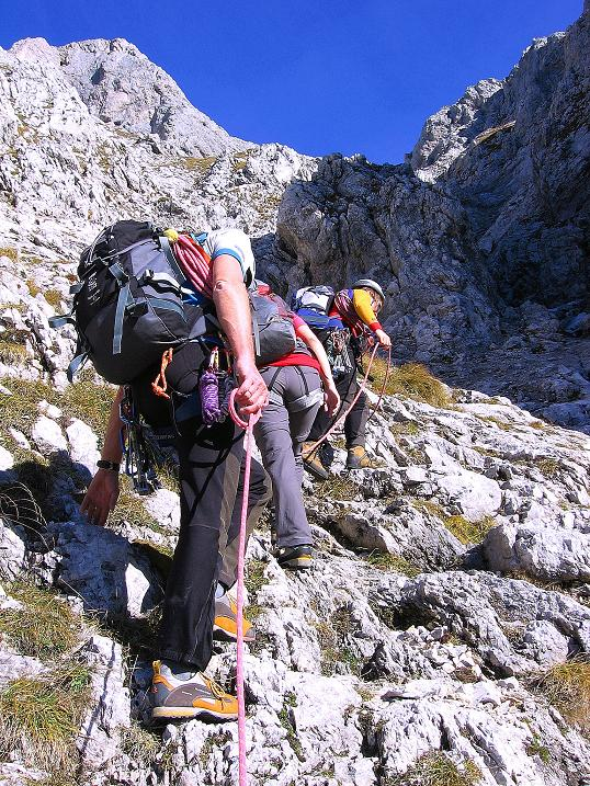 Foto: Andreas Koller / Wander Tour / Admonter Reichenstein (2251m) / Querung in die steile S-Schlucht / 04.11.2008 21:18:39
