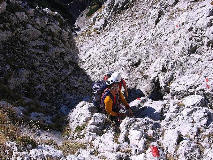 Foto: Andreas Koller / Wander Tour / Admonter Reichenstein (2251m) / Kletterei (II) in der S-Schlucht / 04.11.2008 21:18:15