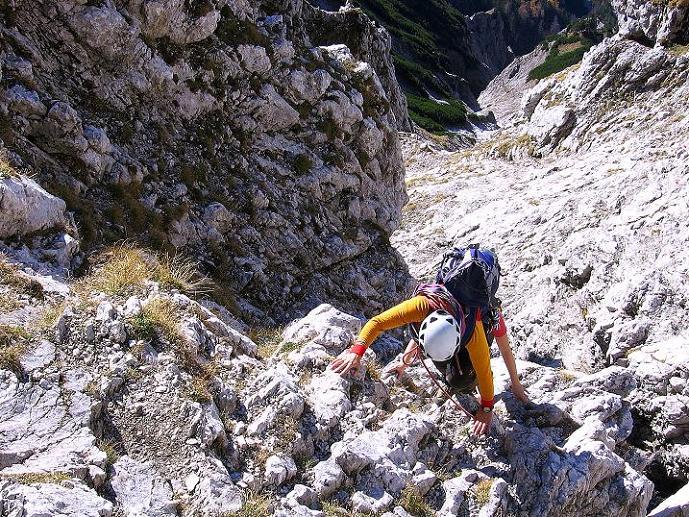 Foto: Andreas Koller / Wander Tour / Admonter Reichenstein (2251m) / Steil in der Rinne (II) / 04.11.2008 21:16:07