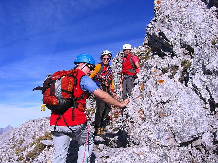 Foto: Andreas Koller / Wander Tour / Admonter Reichenstein (2251m) / Am Ende der steilen Rampe zur W-Flanke / 04.11.2008 21:11:59