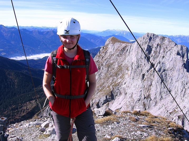 Foto: Andreas Koller / Wander Tour / Admonter Reichenstein (2251m) / Vom Reichenstein-Gipfel Blick nach W zum Kalbling (2196 m) und Sparafeld (2247 m)  / 04.11.2008 21:07:45