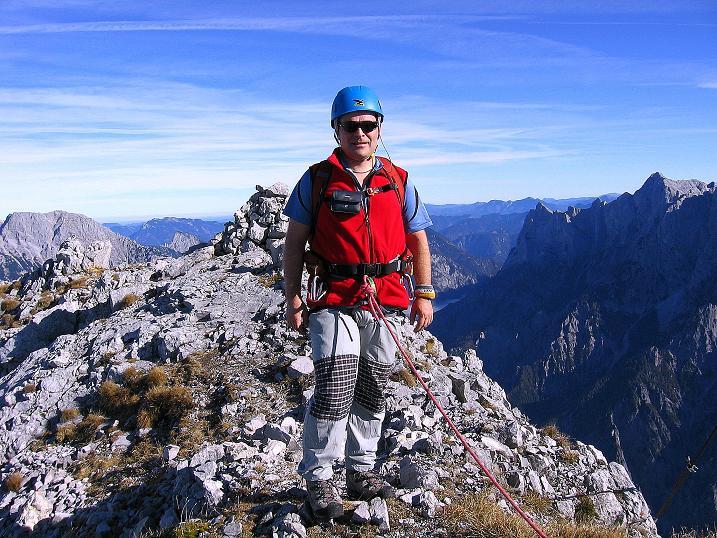 Foto: Andreas Koller / Wander Tour / Admonter Reichenstein (2251m) / Am Reichenstein mit Blick zum Buchstein (2224 m) und zum Hochtor (2369 m) / 04.11.2008 21:06:01
