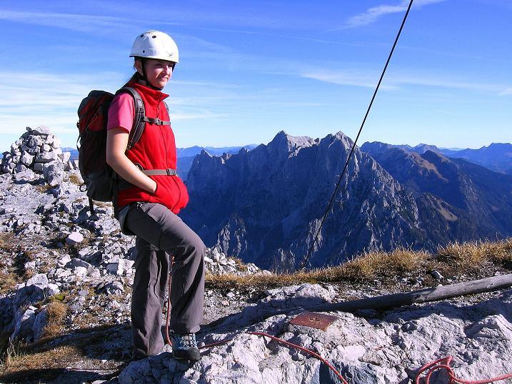 Foto: Andreas Koller / Wander Tour / Admonter Reichenstein (2251m) / Am Reichenstein mit Blick in die Hochtor-Gruppe / 04.11.2008 21:03:37