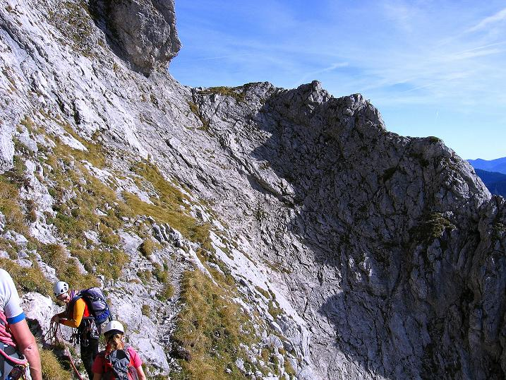 Foto: Andreas Koller / Wander Tour / Admonter Reichenstein (2251m) / Blick auf die zu querende Herzmann-Kupfer Platte / 04.11.2008 21:02:40