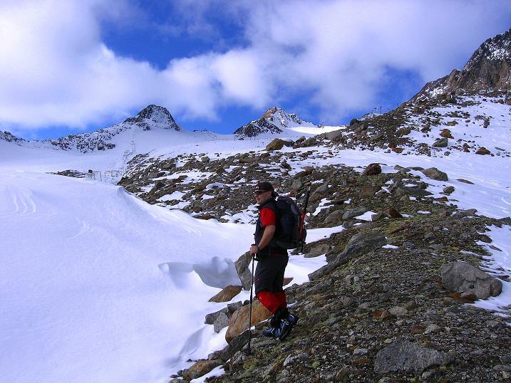 Foto: Andreas Koller / Wander Tour / Über den Tiefenbachferner auf die Innere Schwarze Schneide (3370m) / Anstieg zum Tiefenbachferner und zum Tiefenbach Joch / 10.11.2008 22:46:04