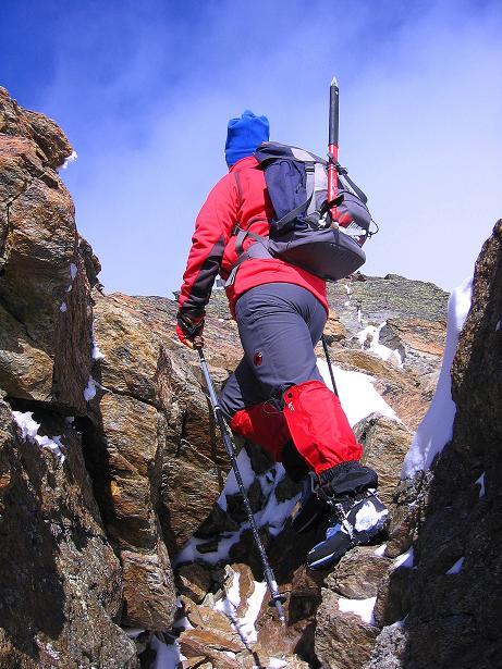 Foto: Andreas Koller / Wander Tour / Über den Tiefenbachferner auf die Innere Schwarze Schneide (3370m) / In leichter Kletterei am S-Grat (nie schwerer als I, aber Trittsicherheit und Schwindelfreiheit sind notwendig) / 10.11.2008 22:42:36