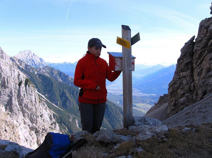 Foto: Andreas Koller / Klettersteig Tour / Klettersteig auf die Wankspitze (2219m) / Am Stöttltörl / 12.11.2008 01:09:54