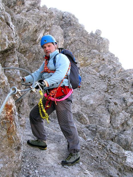 Foto: Andreas Koller / Klettersteig Tour / Klettersteig auf die Wankspitze (2219m) / Leichter in der abschüssigen W-Flanke / 12.11.2008 01:06:50