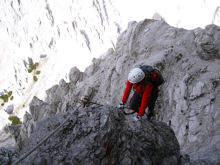 Foto: Andreas Koller / Klettersteig Tour / Klettersteig auf die Wankspitze (2219m) / Über eine ausgesetzte, aber unschwierige Kante / 12.11.2008 01:03:53