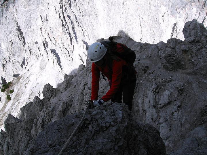 Foto: Andreas Koller / Klettersteig Tour / Klettersteig auf die Wankspitze (2219m) / Scharfes Eck / 12.11.2008 01:03:24