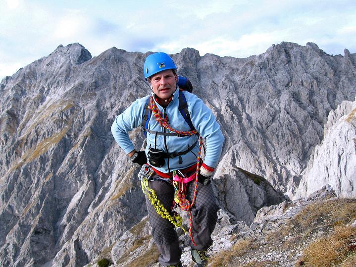 Foto: Andreas Koller / Klettersteig Tour / Klettersteig auf die Wankspitze (2219m) / Auf der Nördlichen Wankspitze - dem höchsten Punkt der Tour (2219 m) / 12.11.2008 01:00:50