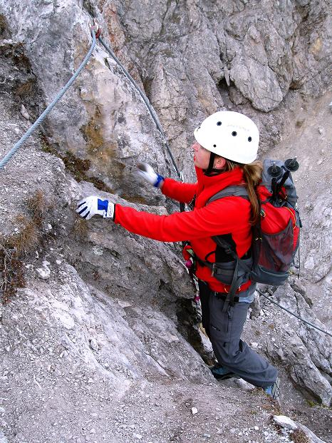 Foto: Andreas Koller / Klettersteig Tour / Klettersteig auf die Wankspitze (2219m) / Die letzte sehr steile Kante zur Südlichen Wankspitze (B/C) / 12.11.2008 00:58:01