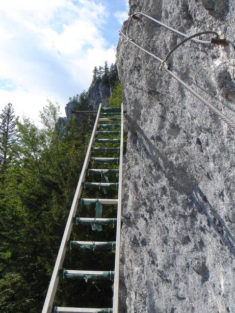 Foto: Manfred Karl / Klettersteig Tour / Mein Land – Dein Land Klettersteig / Ein weiterer origineller Abschnitt des Klettersteiges / 13.11.2008 21:38:14