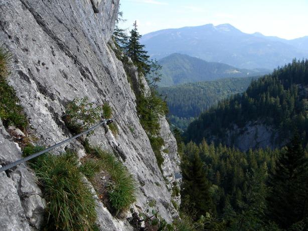 Foto: Manfred Karl / Klettersteig Tour / Mein Land – Dein Land Klettersteig / Im Quergang / 13.11.2008 21:35:50
