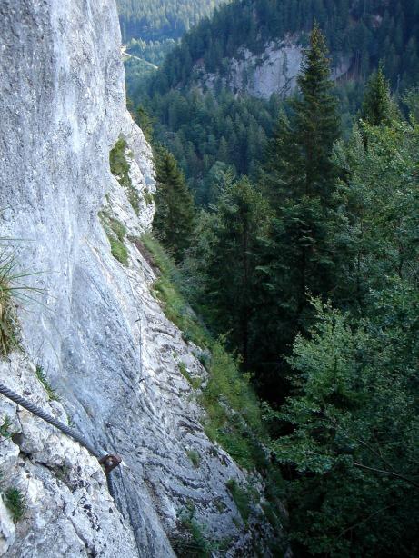 Foto: Manfred Karl / Klettersteig Tour / Mein Land – Dein Land Klettersteig / Am Ende der Plattenquerung / 13.11.2008 21:34:19