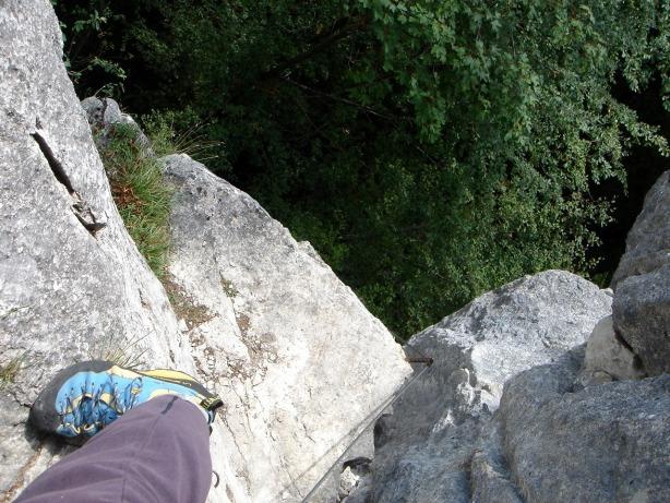 Foto: Manfred Karl / Klettersteig Tour / Mein Land – Dein Land Klettersteig / Die letzten steilen Meter / 13.11.2008 21:33:37