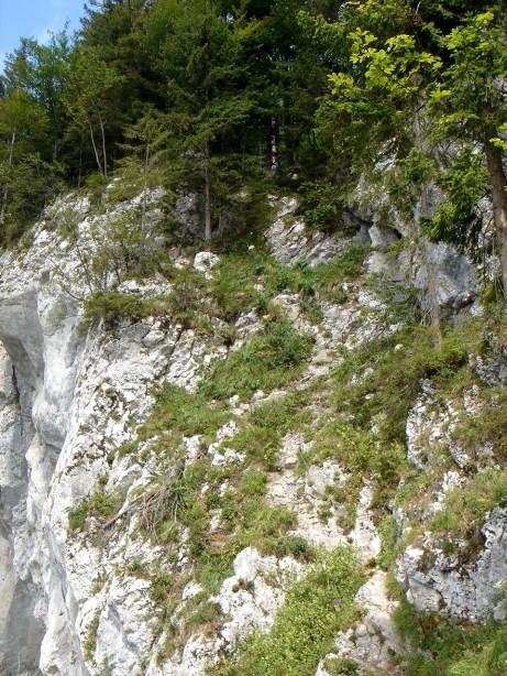 Foto: Manfred Karl / Klettersteig Tour / Mein Land – Dein Land Klettersteig / Über diese Rampe führt der Radsteig / 13.11.2008 21:27:33