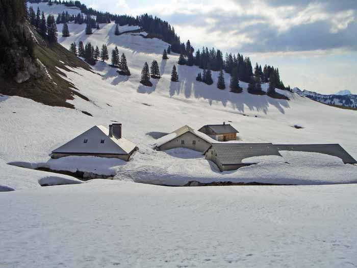 Foto: vince 51 / Schneeschuh Tour / Mit Schneeschuhen auf den Hohen Freschen / Die Untere Saluveralm  / 20.11.2008 22:37:06