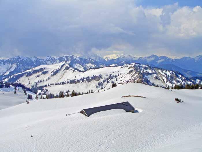 Foto: vince 51 / Schneeschuh Tour / Mit Schneeschuhen auf den Hohen Freschen / Obere Saluveralm / 20.11.2008 22:34:39
