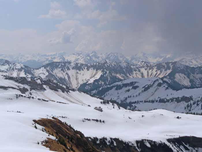 Foto: vince 51 / Schneeschuh Tour / Mit Schneeschuhen auf den Hohen Freschen / Blick nach Süden / 20.11.2008 22:27:15