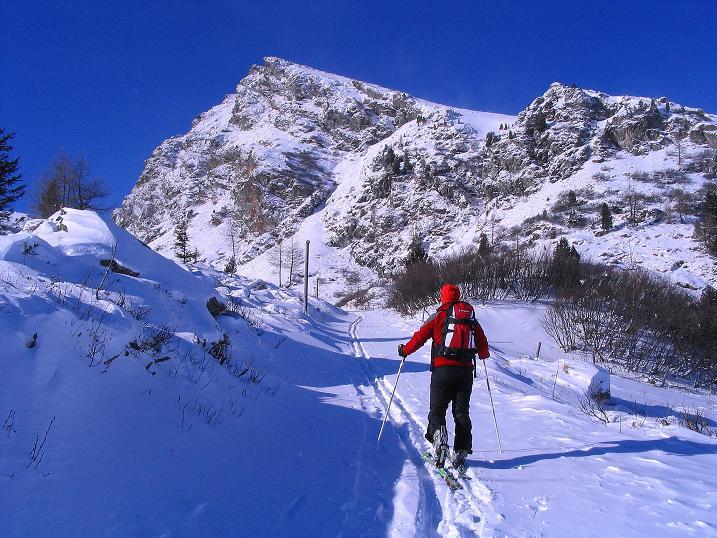 Foto: Andreas Koller / Ski Tour / Vom Falkertsee auf den Falkert (2308m) / Aufstieg zur Falkertspitze / 24.11.2008 23:06:26