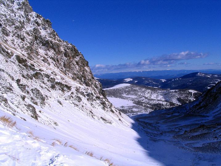 Foto: Andreas Koller / Ski Tour / Vom Falkertsee auf den Falkert (2308m) / Blick zurück, im Talboden erfolgt der Anstieg. / 24.11.2008 23:03:38