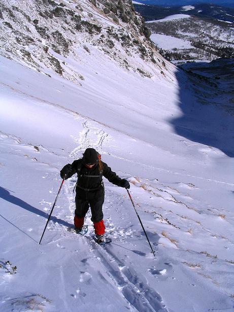 Foto: Andreas Koller / Ski Tour / Vom Falkertsee auf den Falkert (2308m) / Steiler Anstieg in die Falkertscharte / 24.11.2008 23:02:59
