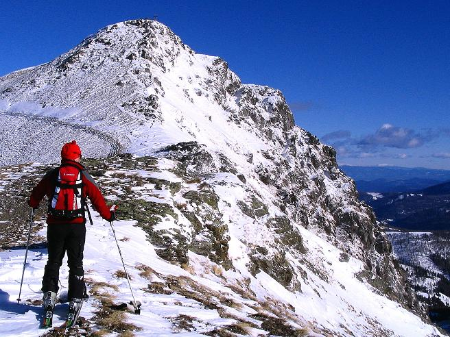 Foto: Andreas Koller / Ski Tour / Vom Falkertsee auf den Falkert (2308m) / Unterwegs zum SW-Grat der Falkertspitze / 24.11.2008 23:01:48
