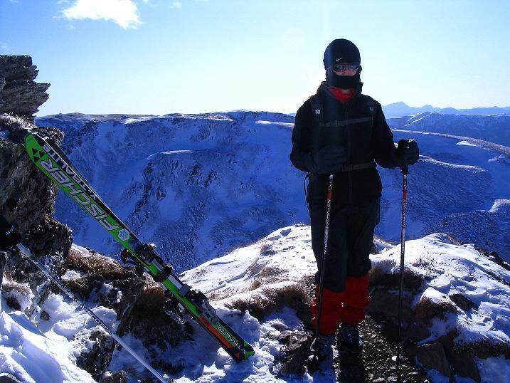 Foto: Andreas Koller / Ski Tour / Vom Falkertsee auf den Falkert (2308m) / Blick zur Moschelitzen (2310 m) vom Falkert SW-Grat / 24.11.2008 23:01:19